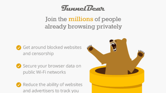 TunnelBear VPN Extension for Chrome