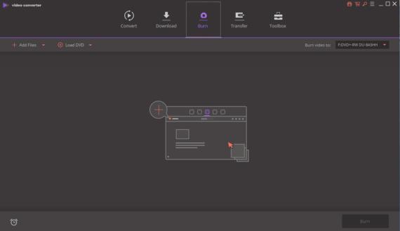 Burn video with Wondershare Video Converter Ultimate