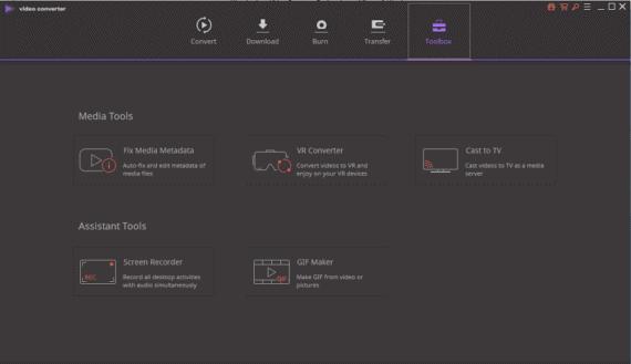 Wondershare Video Converter Ultimate - Toolbox