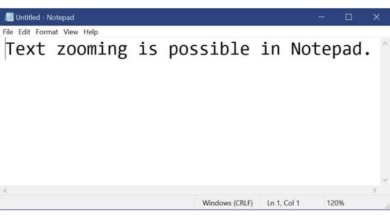 Microsoft Notepad