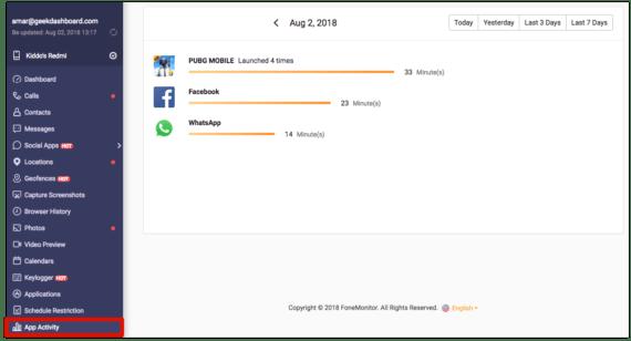 FoneMonitor - App Activity