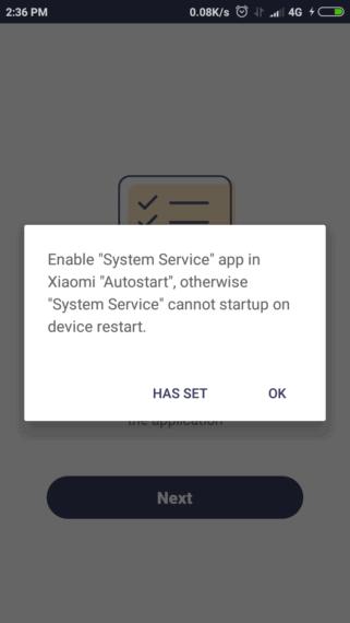 On Xiaomi devices, enable AutoStart