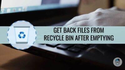 Restore Recycle Bin files in Windows