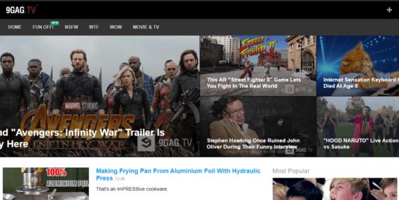 9Gag TV YouTube alternative for funny videos