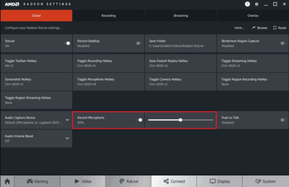 AMD ReLive Game Screen Recorder