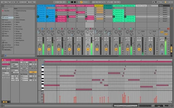 Ableton Live music editing software for starters