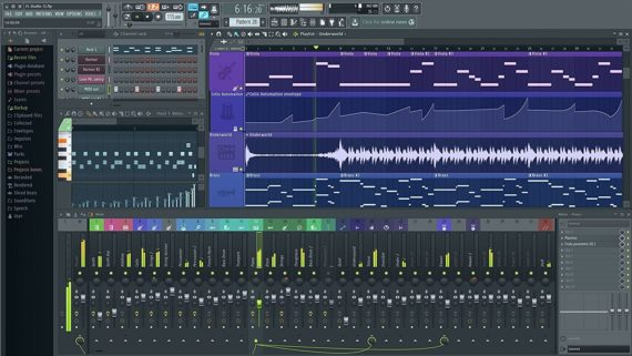 FL Studio sound editing and mixing software