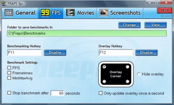 FRAPS fps screen recorder