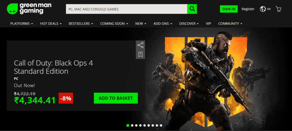 Green Man Gaming Steam alternative for purchasing games at cheaper price