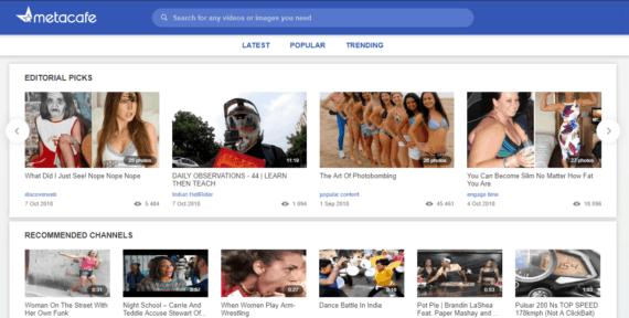 Metacafe video sharing website