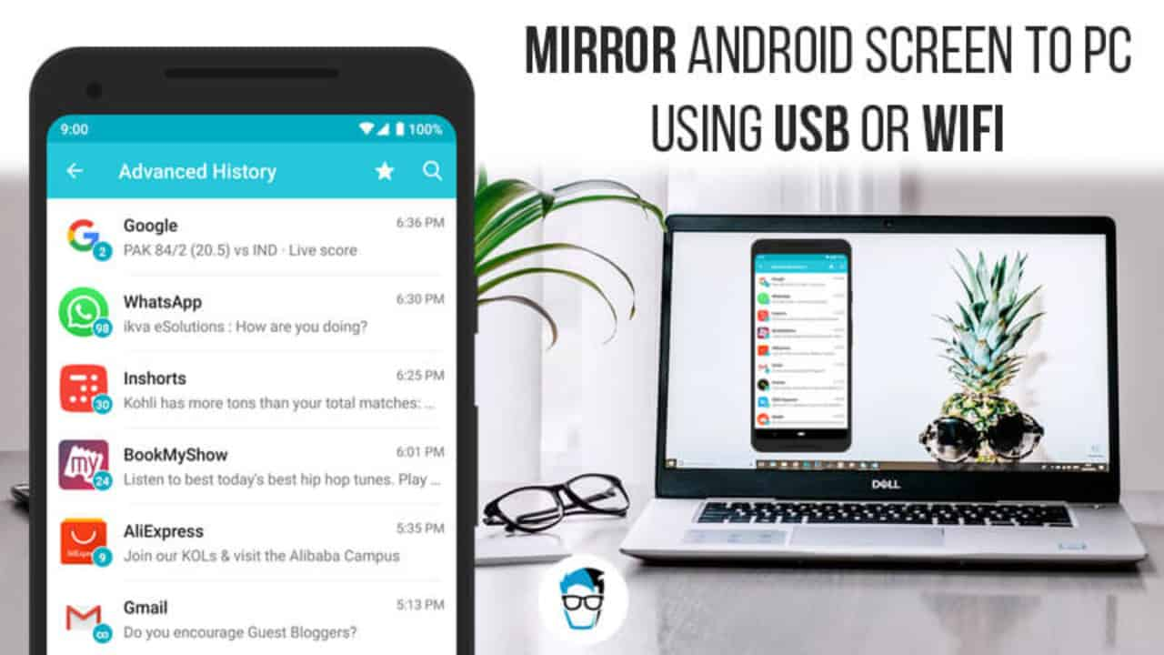 Mirror Android Screen to PC or Mac Without Rooting using USB