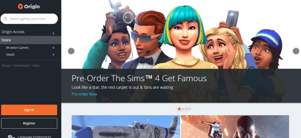 Origin is a Steam alternative to buy cheap PC games