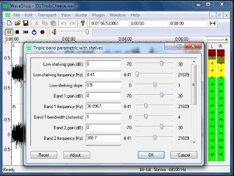 WaveShop basic audio editing software for Windows
