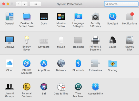 Open Network Settings in Mac