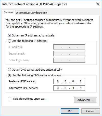 Using Custom DNS on Windows