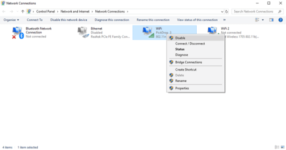 Disable or Enable Networks on Windows