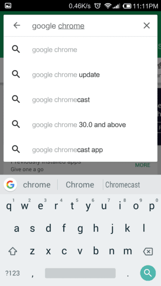 Download Google Chrome from Google Play