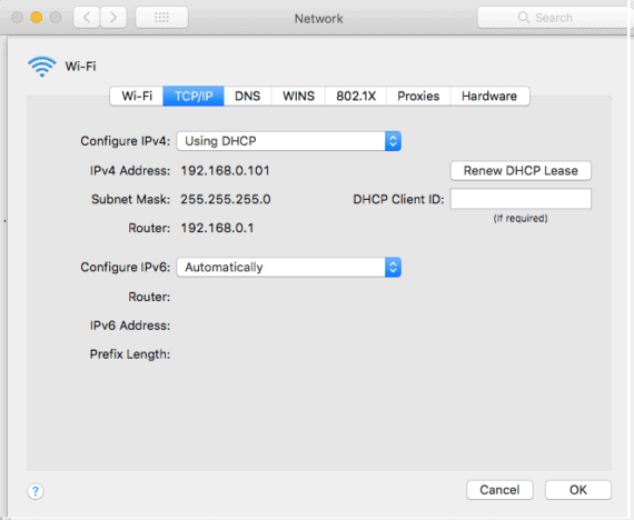 Renew DHCP Lease on Mac