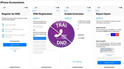 TRAI DND AppScreenshots in Apple Store