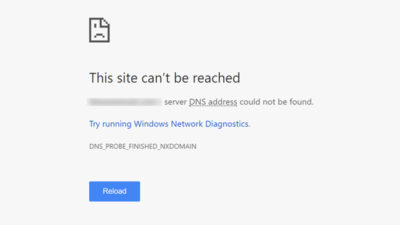 how to fix DNS_PROBE_FINISHED_NXDOMAIN error in Chrome