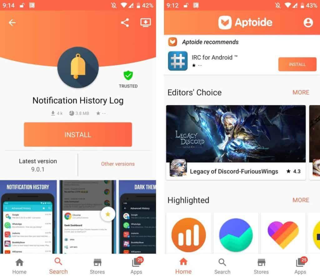 Aptoide Play store alternative