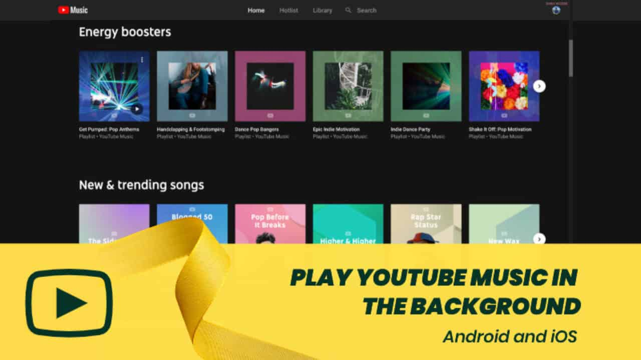 Play YouTube Music in Background when Screen is Turned Off