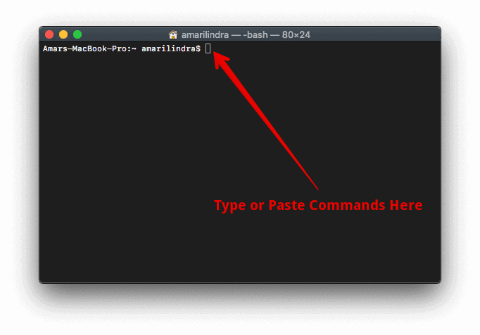 Type Commands in Mac Terminal