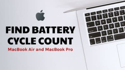 find battery cycle count in MacBook