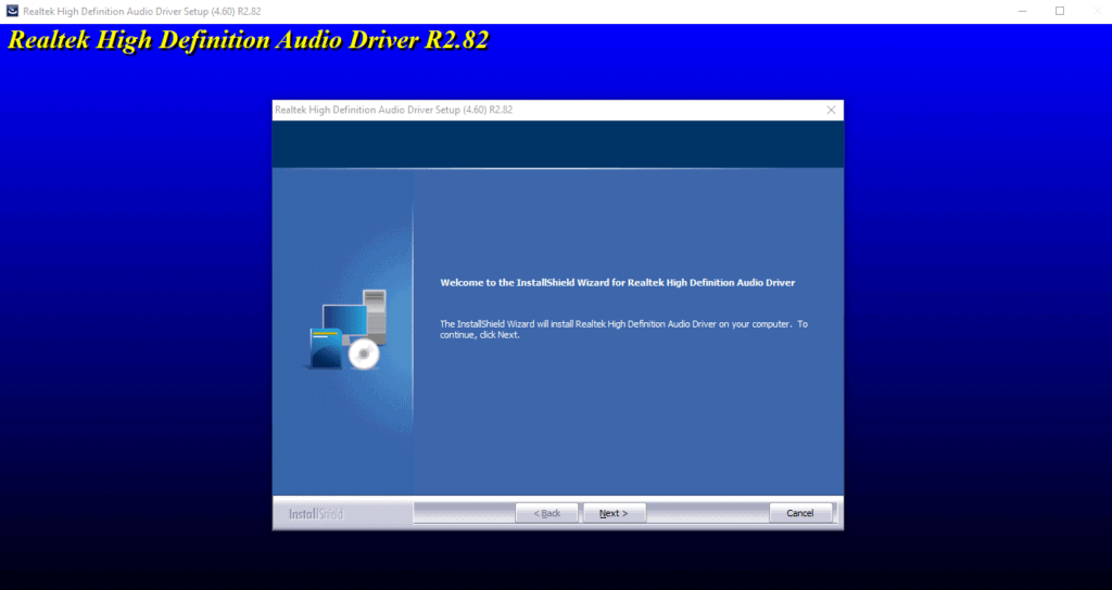 Installing Realtek HD Audio Manager sound drivers