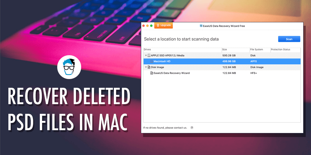 Different Ways to Recover PSD Files from Mac