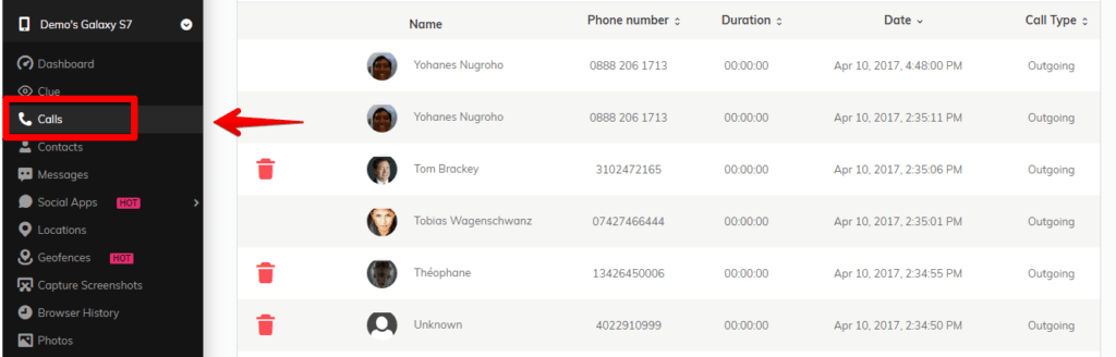 SpyMyFone - Access Calls and Messages