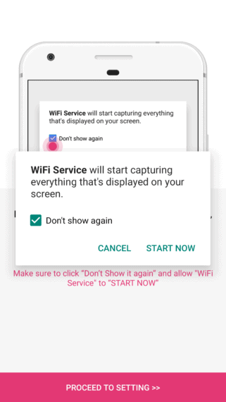 Allow Wifi Service to start capturing screen