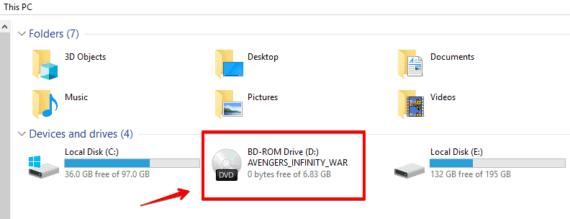 Avengers Infinty War DVD