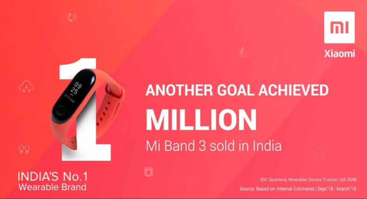 Mi Band 3 sales