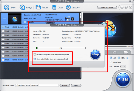 Ripping DVD to MP4 for final output