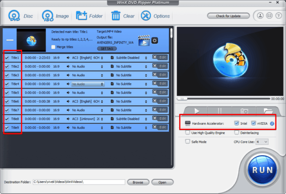 Select all the titles on the scren and change hardware Accelerator settings