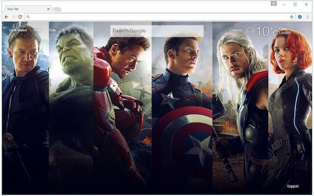 11 Best Marvel's Avengers Google Chrome Themes for Windows