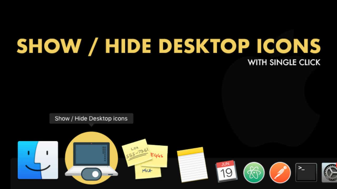 Terrific How To Show Or Hide Desktop Icons On Mac Quickly With Just Download Free Architecture Designs Lukepmadebymaigaardcom