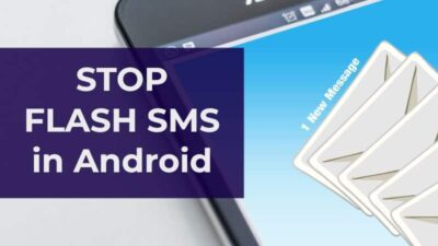 stop flash sms in Android