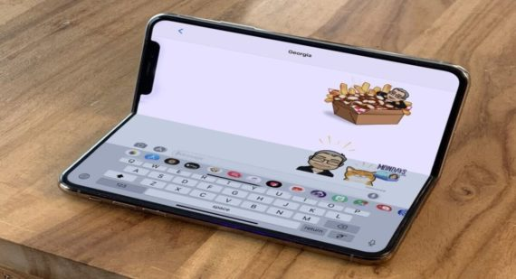 Foldable iPad render