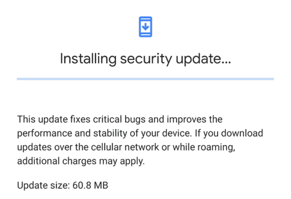 Installing system update in Android