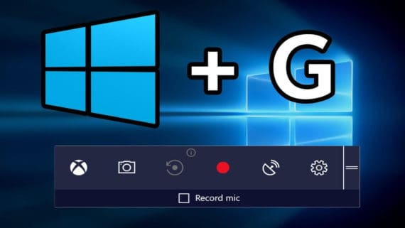 Press Win+G to Activate Win10 Screen Recorder