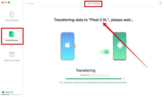 Copy iPhone Call Logs to Android