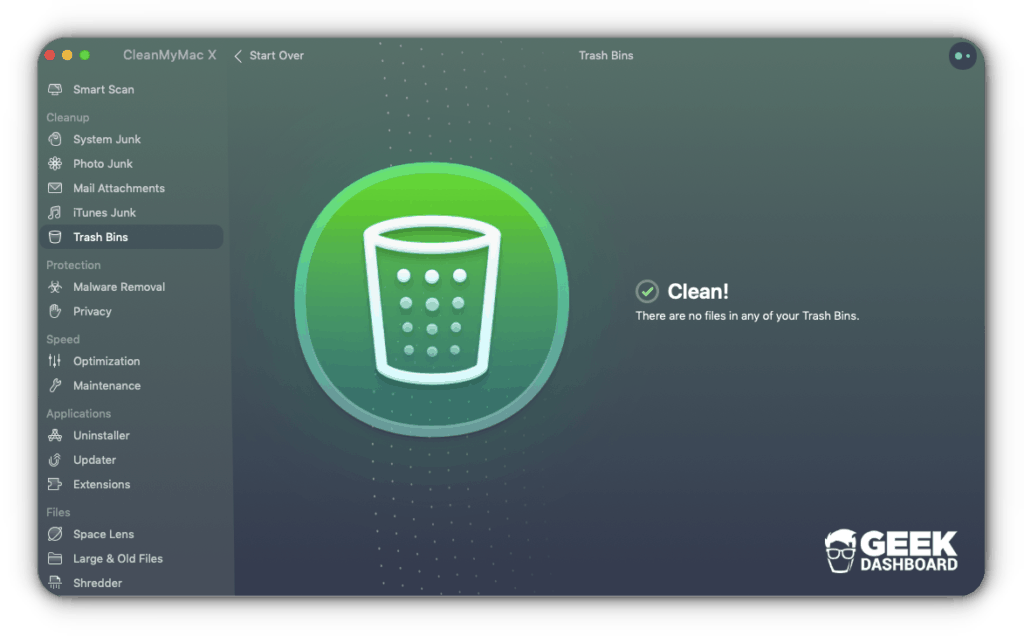 CleanMyMac X Trash Bins