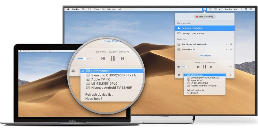 JustStream Screen Mirroring Mac