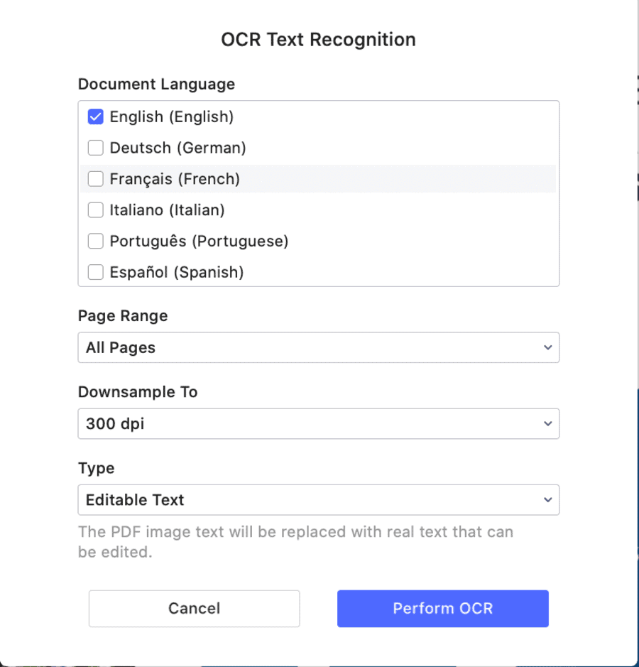 PDFelement for Mac OCR Tool