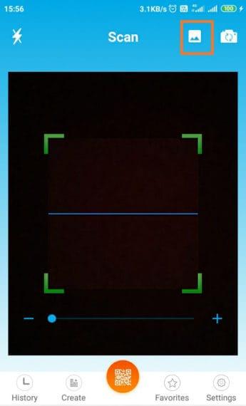 Open Photos from Gallery in QR Code reader app