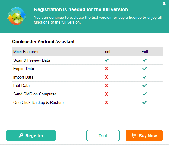 Coolmuster android assistant paid vs free comparison
