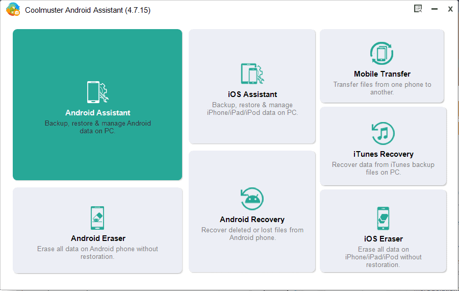 Coolmuster Android Assistant homepage