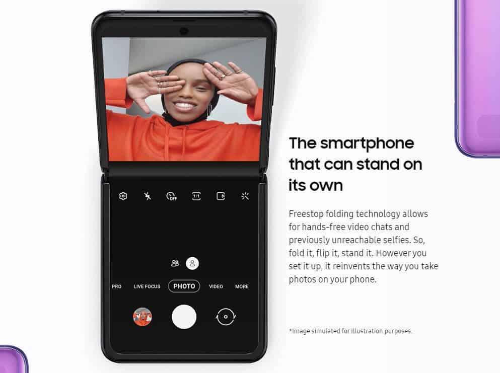 Z Flip Camera features